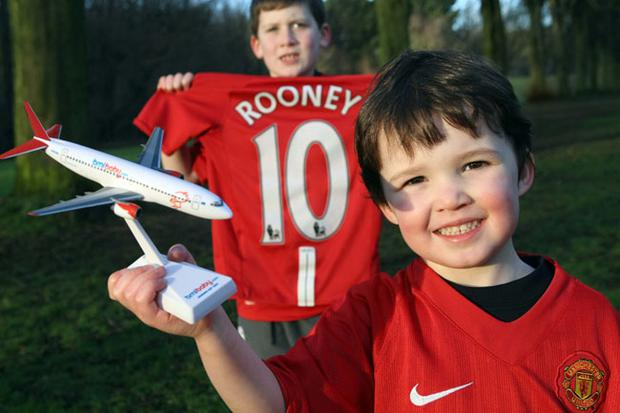 NO FEE PRESS RELEASE IMAGEPress Eye Belfast - Picture by: Brian Thompson / Press EyeManchester baby for £10 Pictured is Noah Johnston aged 4 from Dundonald with his cousin Max Weiniger aged 7 celebrating bmibaby flights from Belfast to Manchester at a guaranteed fare of £10 one way including all taxes. As a city famous for its football and unique landmarks like Old Trafford and curry mile, Manchester is the perfect place to indulge in a short break.Ê This fare is valid for travel between 15 February 2010 until 27 March 2010 and applies to flights departing from Belfast International to Manchester and from Manchester Airport to Belfast. These fares are available for a limited time only. For more information and to book visit www.bmibaby.com <http://www.bmibaby.com/> EndsFor further media information or to enquire about possible press trips to Prague contact: The bmibaby team at Smarts Ð Sarah, Pamela or Claire028 9039 5500bmibaby@smarts.co.uk <mailto:pamela.beatty@smarts.co.uk> Katherine Hill, PR Manager:01332 854919 katherine.hill@bmibaby.com Naomi Bustin, Communications Executive: 01332 854880 naomi.bustin@bmibaby.com Notes to editors: bmibaby was launched in 2002 and operate from four UK bases: Manchester, East Midlands and Birmingham to: Alghero (Sardinia), Alicante, Almeria, Amsterdam, Barcelona, Bastia (Corsica), Belfast International, Bordeaux, Cork, Dubrovnik, Edinburgh, Faro, Geneva, Glasgow International, , Ireland West Knock, Jersey, Lisbon, Lourdes, Malaga, Malta, Menorca, Murcia, Newquay, Nice, Palma, Paris (CDG), Perpignan, Prague, Toulouse and Venice.