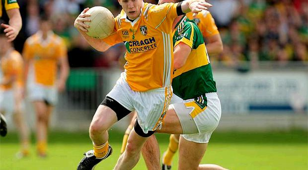 Antrim's Justin Crozier has found his talents much in demand by both his county, club and university