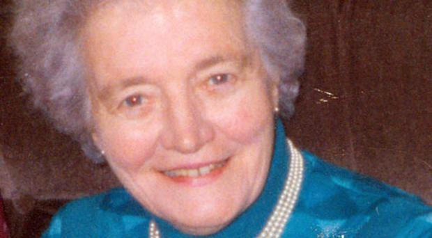 Pensioner Annabella Symington who was strangled in her south Belfast home
