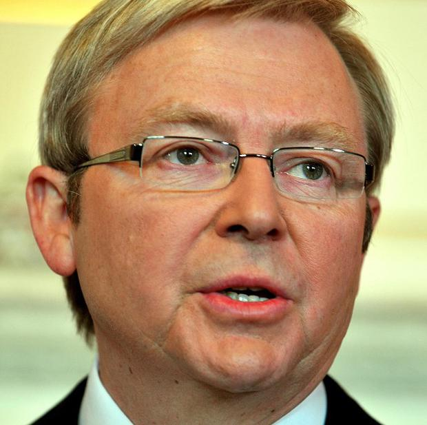 Prime Minister Kevin Rudd is remembering those killed in wildfires a year ago