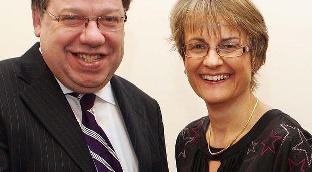Newly elected leader of the SDLP Margaret Ritchie, with Taoiseach Brian Cowen