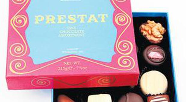 <br /><b>Prestat chocolates</b><br /> A sure-fire winner, Prestat's 'chocolate jewel assortment' offers 16 of its most popular dark, milk and white chocolates and has something for everyone, provided your valentine can be persuaded to share.<br /> Price: £13.99<br /> <a href=