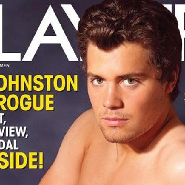 The Playgirl magazine cover featuring Levi Johnston, the father of Sarah Palin's grandson (AP)