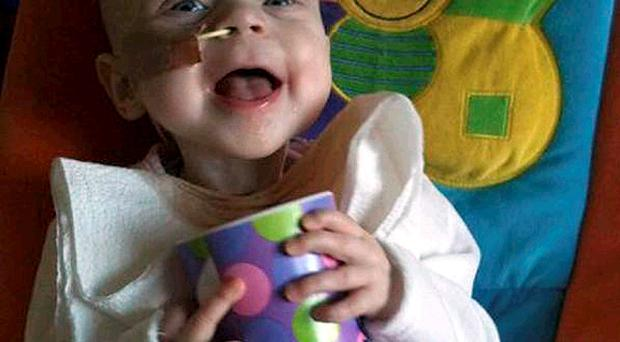 Beaming: Little fighter 'Smyla Myla' Campbell lives up to her name