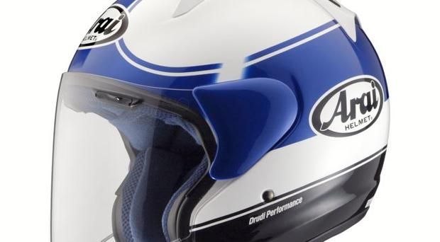 The new cool blue paint job on the SZ-F helmet