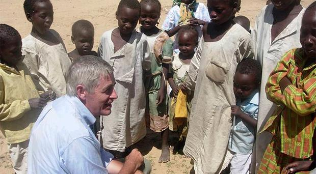 Dominic MacSorley from Concern has helped create designated 'safe areas' for children in Haiti
