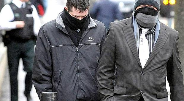 Paul Johnston (left), who was jailed for four years and John Stewart who was jailed for seven years for the manslaughter of Ronald Mackie