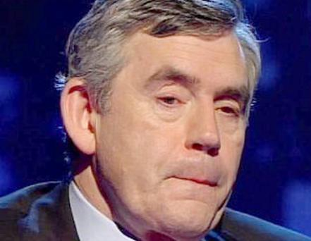 Gordon Brown appearing on Piers Morgan's Life Stories