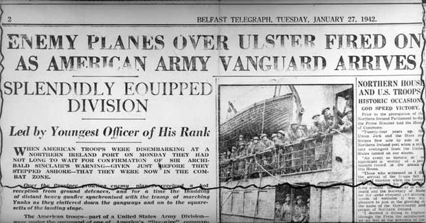 How the Belfast Telegraph reported this historic occasion on Monday 27th January 1942.