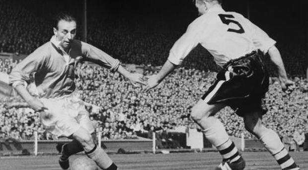 <b>Blackpool 4 - 3 Bolton Wanderers (Final, 1953)</b><br/> At the age of 38, Stanley Matthews (left) helped secure one of the most outstanding Cup Final victories. Blackpool had trailed 3-1 but, with barely a minute remaining, they drew level when Stan Mortensen completed his hat-trick with a sensational shot. The Seasiders' fans were relieved they had at least won the chance of extra time but Matthews felt no need for his legs to put in another 30-minute shift, and with a final lung-busting trip to the by-line, he set up Bill Perry to score a remarkable winner