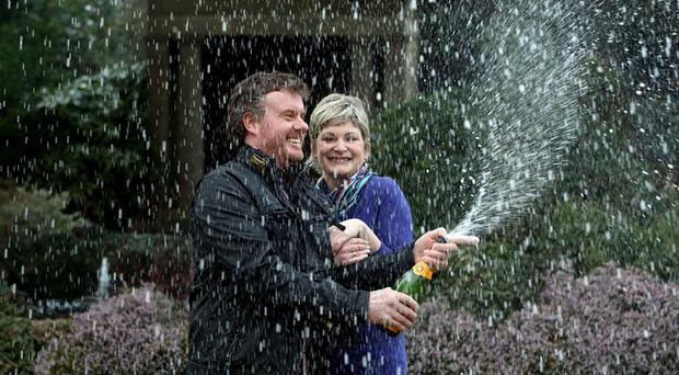 Nigel Page and his partner Justine Laycock are revealed as Britain's biggest lottery winners