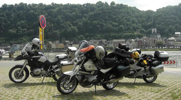 A lunch stop beside the Rhine on route to the Dolomites