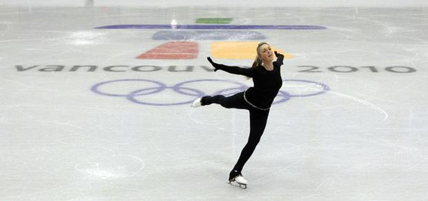 Jenna McCorkell practices at the Vancouver 2010 Olympics in Vancouver