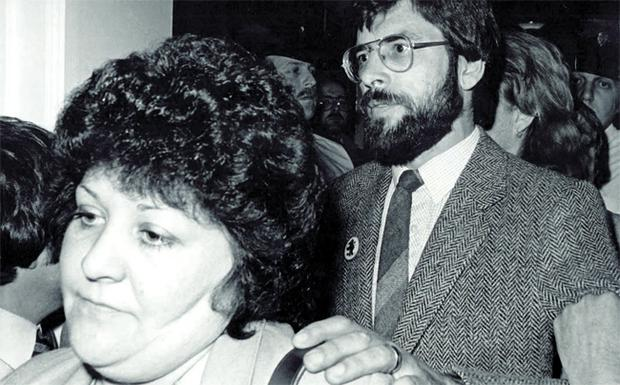 In happier times -- Gerry Adams with his wife Colette, at Belfast City Hall in 1998. Colette is now battling cancer