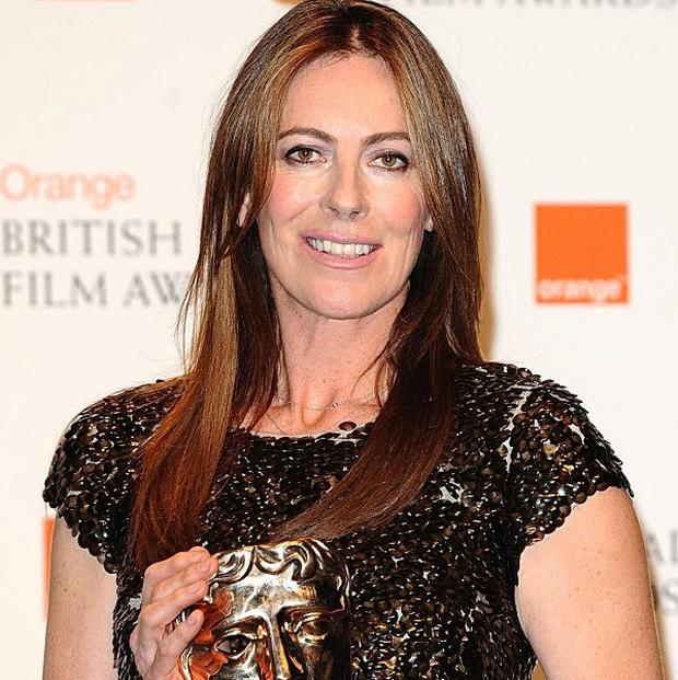 Kathryn Bigelow at the Baftas with the Best Director award she won for The Hurt Locker