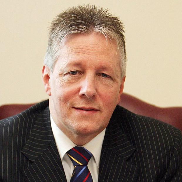 Democratic Unionist leader Peter Robinson