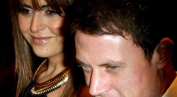 Wayne Bridge with former girlfriend Vanessa Perroncel