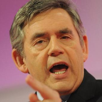 Gordon Brown has strongly denied shoving or hitting people