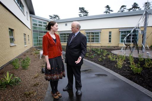 Health Minister Michael McGimpsey meets consultant psychiatrist Frances Doherty at the newly opened Beechcroft mental health unit