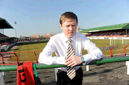 Glentoran manager Scott Young