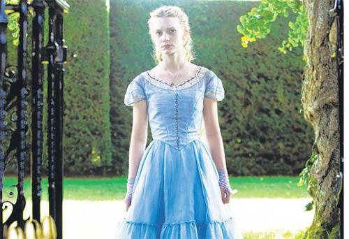 Fall from grace: Mia Wasikowski in Tim Burton's disappointing Alice in Wonderland