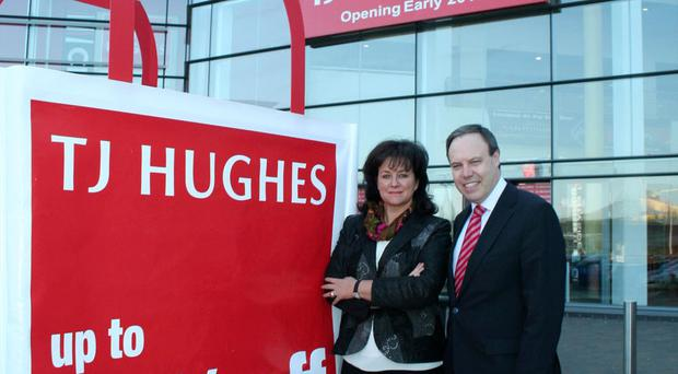 TJ Hughes chief executive Sue Tennant with North Belfast MP Nigel Dodds at the new store