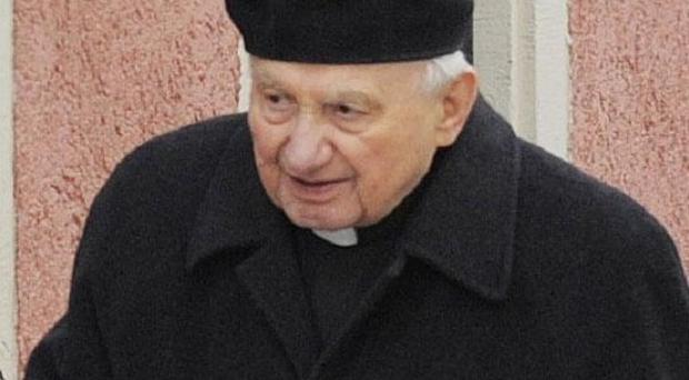 Georg Ratzinger, 86, brother of Pope Benedict XVI, who said in a newspaper interview he slapped pupils in a boys' choir (AP)