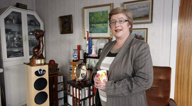 Daphne Trimble in her Lisburn home