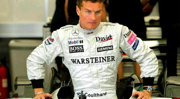 Formula One ace David Coulthard will race around Belfast City Hall on Saturday night