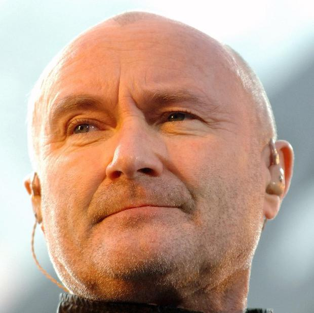 Phil Collins front the hit group Genesis