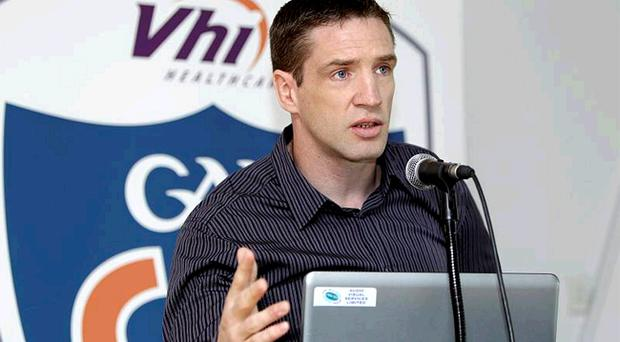 Kieran McGeeney, at yesterday's launch of the VHI Cul camps, says it's only natural that players will attempt to gain an advantage if referees are awarding soft free kicks