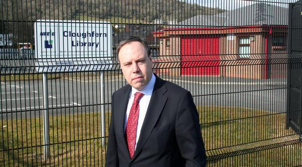 Nigel Dodds is 'totally opposed' to closing Cloughfern Library