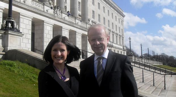Paula Bradshaw with Ulster Unionist leader Reg Empey