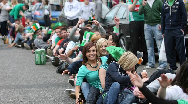 Revellers take St Patrick's Day celebrations onto the streets in the Holy Land