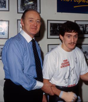 Boxing manager Barney Eastwood and Barry McGuigan
