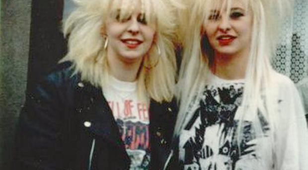Former punks Dawn and Helen back in the day