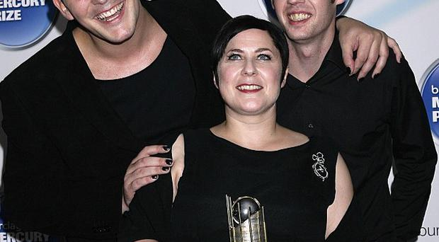 Caroline McKay, pictured with Glasvegas colleagues Rab Allan and Paul Donoghue is leaving the band