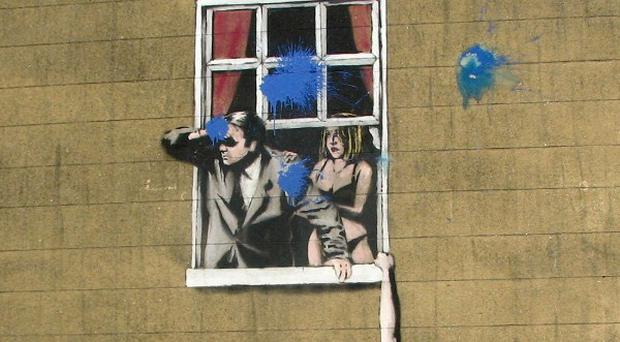 Graffiti artist Banksy staged one of the world's biggest exhibitions