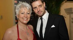 Relaxing night: Pamela with former Boyzone star Keith Duffy