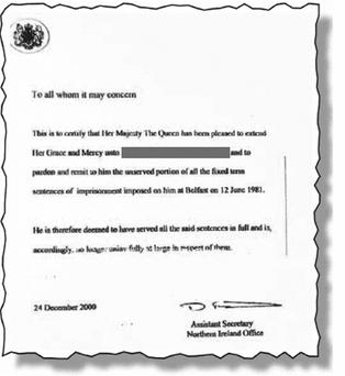 Royal Pardon: document could be embarrassing for Secretary of State Shaun Woodward