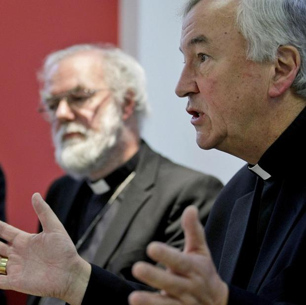 Archbishop of Canterbury Rowan Williams and Archbishop of Westminster Vincent Nichols