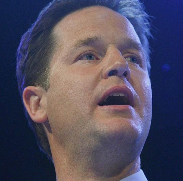 Nick Clegg said Tory plans add up to a 'VAT bombshell'