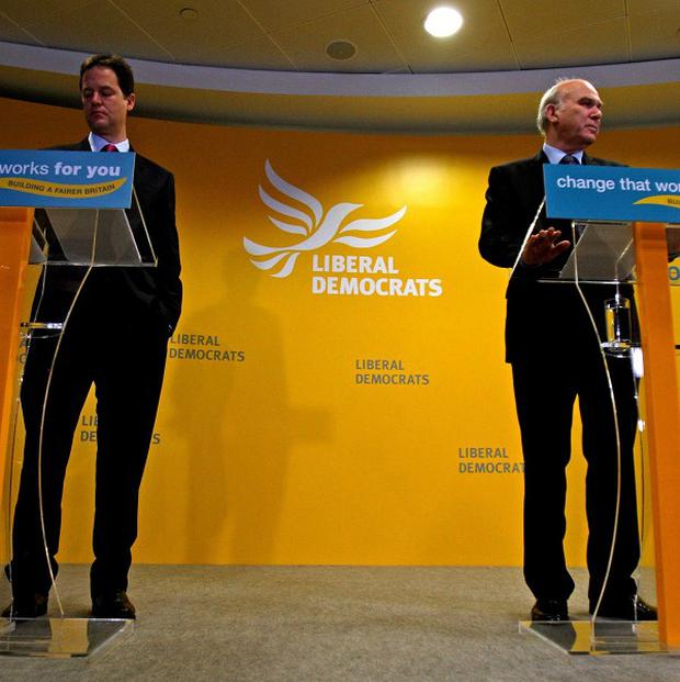 Lib Dems leader Nick Clegg has played down talk of a rift between him and Vince Cable