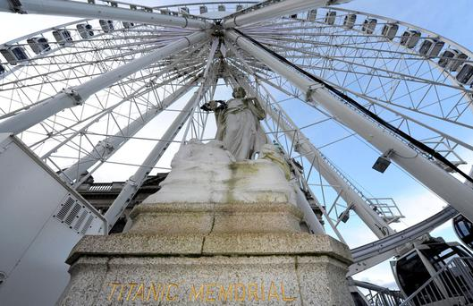 Belfast's Titanic memorial and big wheel