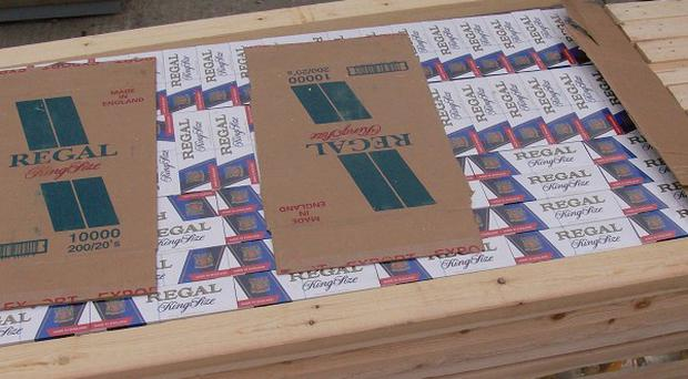 Cigarettes seized by border officials