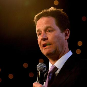 Nick Clegg is set to launch an attack on 'greedy' bankers