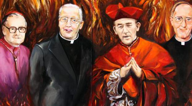 The painting of four of the past Archbishops by Dublin artist David Nolan