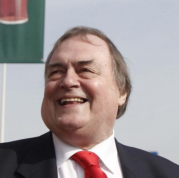 A man has been arrested after an incident at a John Prescott campaign event