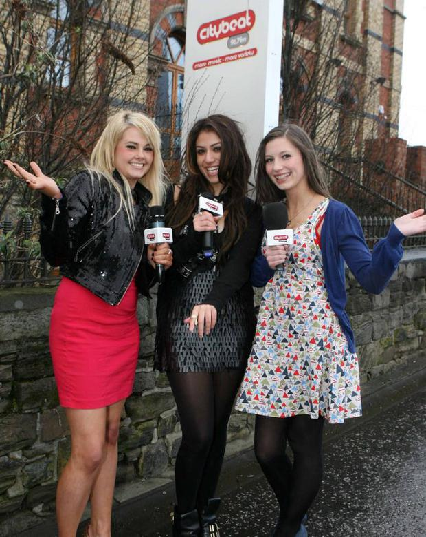 Gabriella Cilmi (middle) launches this year's Citybeat Young Star Search. Pictured with Gabriella Cilimi are Rosellen and Eimear O 'Kane who hope they'll be able to impress the judges at the auditions later this month.