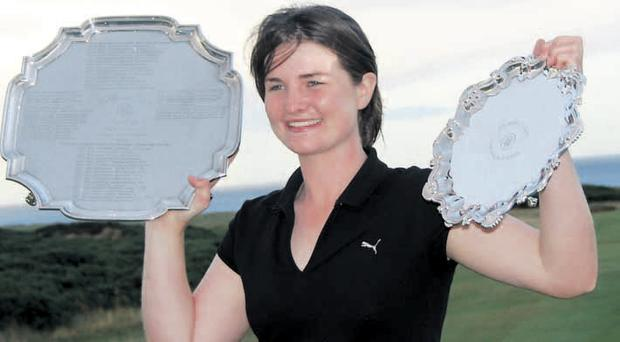 Rising star: Danielle McVeigh can't wait to take on the Americans in their own back yard at the Curtis Cup